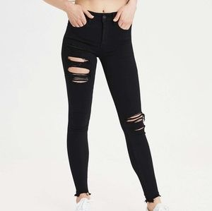 American Eagle| Black Ripped Jeans